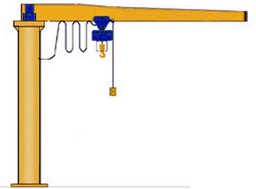 gru a bandiera con paranco argano elettrico usato vendo