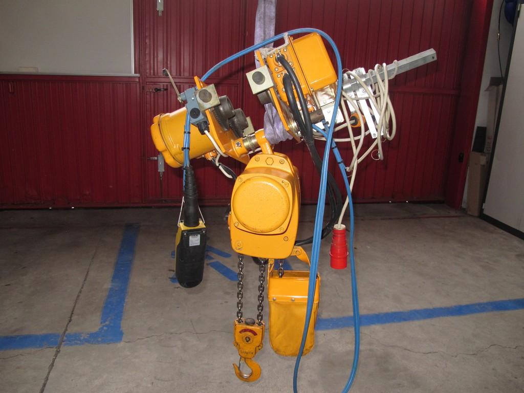 paranco elettrico fas kito 500kg usato norme ce vendo