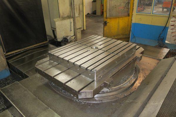 Tavola rototraslante cnc in continuo usata a sostentamento idrostatico