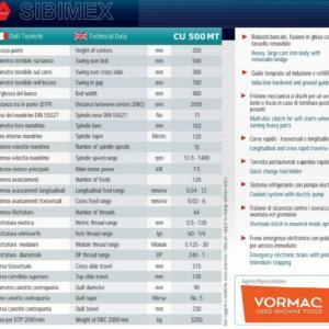 tornio parallelo SIBIMEX CU 500 MT visualizzato usato RICONDIZIONATO