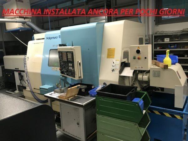 Tornio cnc NAKAMURA WT 250 bimandrino asse Y usato