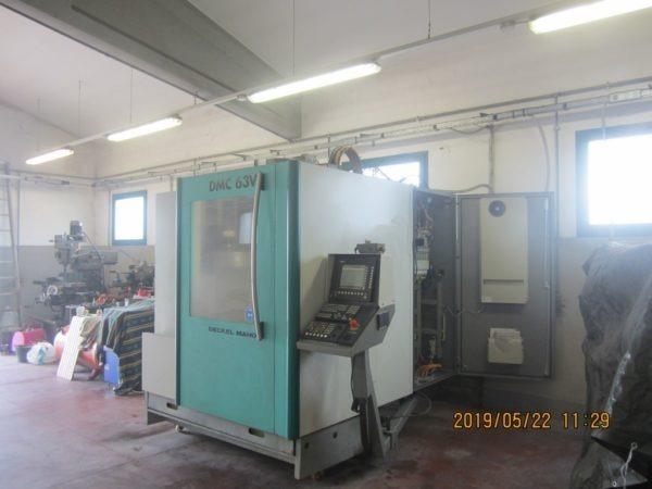 Centro di lavoro verticale 4 assi DMG DMC 63V usato