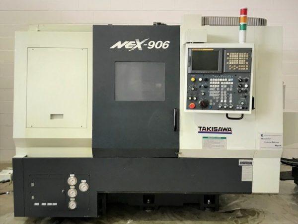 Tornio cnc motorizzato asse Y contromandrino TAKISAWA NEX 906 usato