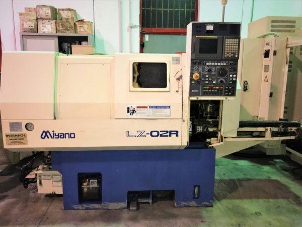 Tornio cnc con caricatore automatico Miyano LZ 02 R usato