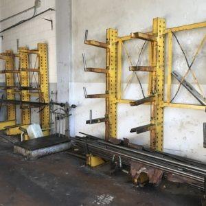 Cantilever per magazzinaggio materiale grezzo usato