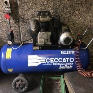 Compressore a cinghia CECCATO 270C 4Kw USATO norme CE