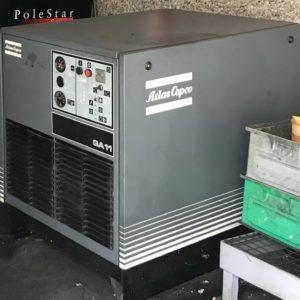 Compressore rotativo a vite silenziato ATLAS COPCO GA11 usato
